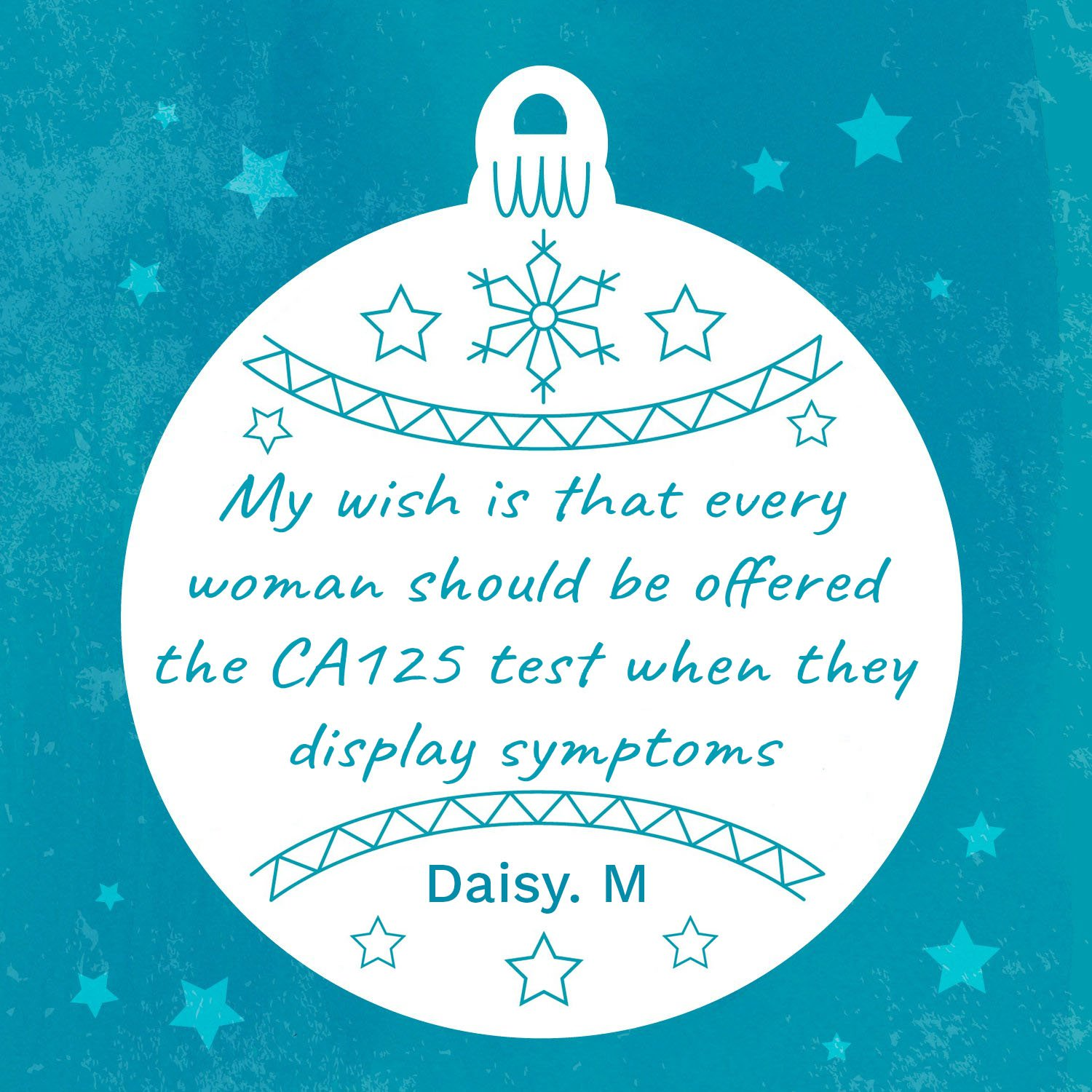 Daisy's Wish For Ovarian Cancer CA125 Test