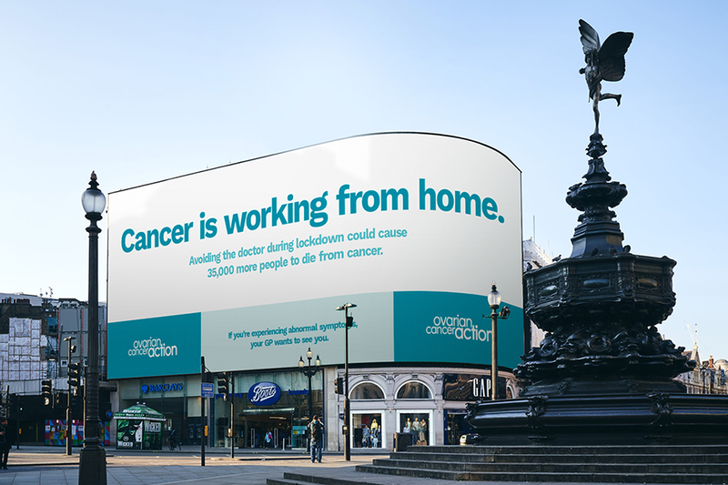 Ovarian cancer action piccadilly circus