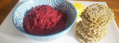 Her recipes for life beetroot hummus
