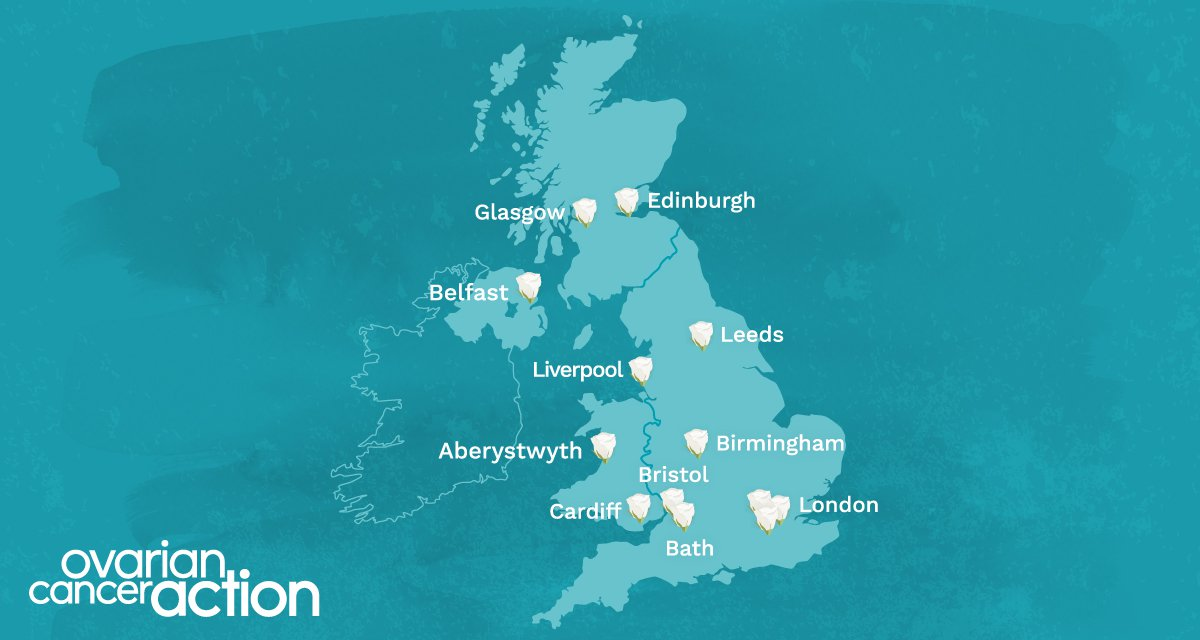 World Ovarian Cancer Day map